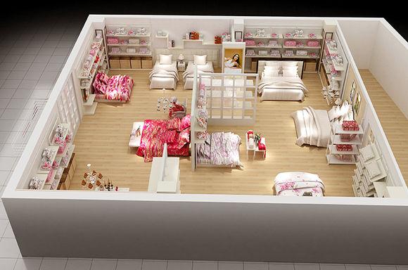 店面家纺专业设计,家纺橱窗店面设计及陈列--合园林设计在日本被称作图片