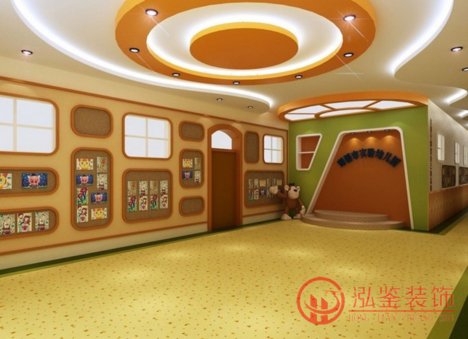 儿园装修门头设计效果 <img>合肥幼儿园装修前台装修设计图